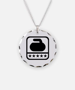 Curling stone stars Necklace