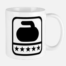 Curling stone stars Mug