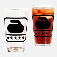 Curling stone stars Drinking Glass