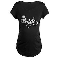 Bride white Maternity T-Shirt