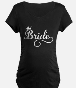 Bride white Maternity T-Shirt