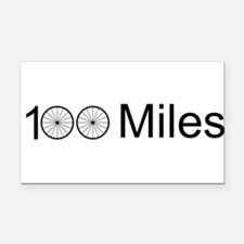 Funny Cycling Rectangle Car Magnet