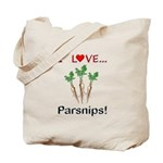I Love Parsnips Tote Bag