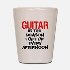 Guitar Reason I Get Up Shot Glass