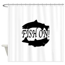 Fish on two Shower Curtain