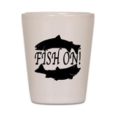 Fish on two Shot Glass