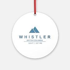 Whistler Ski Resort Ornament (Round)