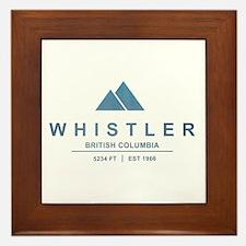 Whistler Ski Resort Framed Tile
