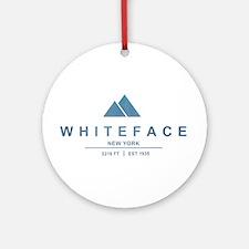 Whiteface Ski Resort Ornament (Round)