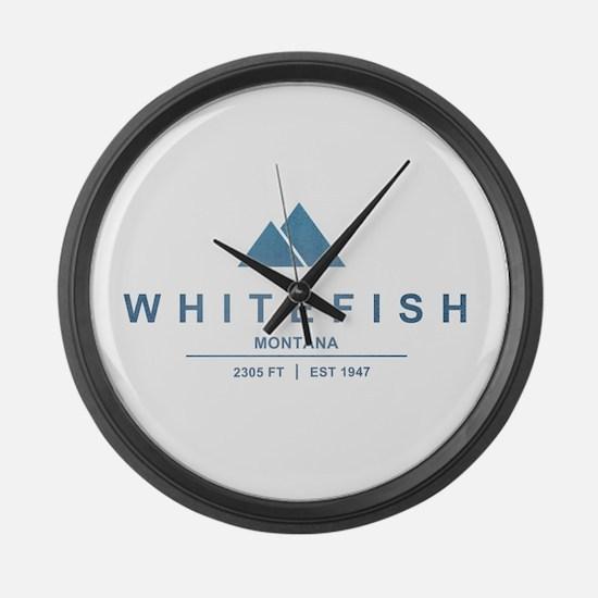 Whitefish Ski Resort Large Wall Clock