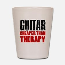 Guitar Cheaper Than Therapy Shot Glass