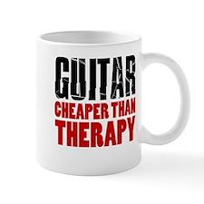 Guitar Cheaper Than Therapy Mugs