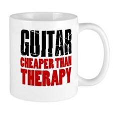 Guitar Cheaper Than Therapy Mugs