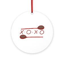 Chef Spoon Ornament (Round)