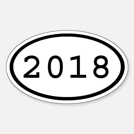 2018 Oval Oval Decal
