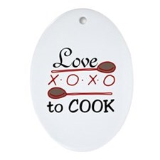Love To Cook Ornament (Oval)