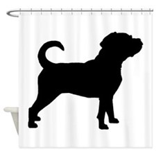 Puggle Dog Shower Curtain