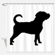 Puggle Dog Shower Curtain