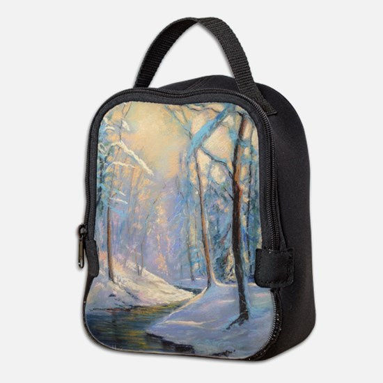 Winter brook pastel Neoprene Lunch Bag