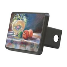 Peaches and flowers pastel Hitch Cover