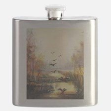 Autumn hunting pastel Flask