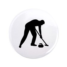 """Curling player team 3.5"""" Button"""