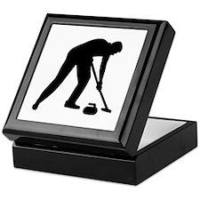Curling player team Keepsake Box