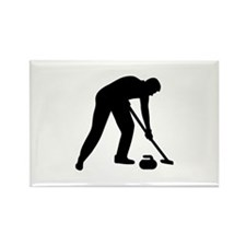 Curling player team Rectangle Magnet