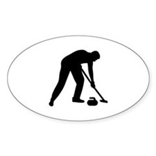 Curling player team Decal