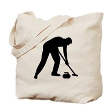 Curling player team Tote Bag