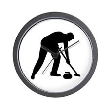 Curling player team Wall Clock