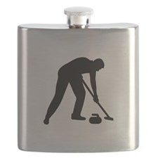 Curling player team Flask