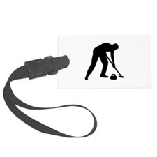 Curling player team Luggage Tag