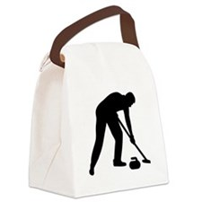 Curling player team Canvas Lunch Bag