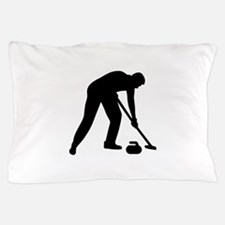 Curling player team Pillow Case