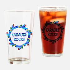 Karaoke Rocks Drinking Glass