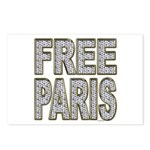 FREE PARIS (BLING EDITION) Postcards (Package of 8