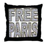 FREE PARIS (BLING EDITION) Throw Pillow