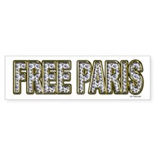 FREE PARIS (BLING EDITION) Bumper Bumper Sticker