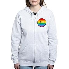 Gay Smiley Zip Hoodie