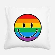 Gay Smiley Square Canvas Pillow