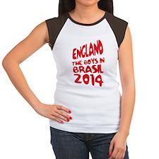 England World Cup 2014 Women's Cap Sleeve T-Shirt