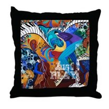 Just Play Music Jazz Graphic Throw Pillow