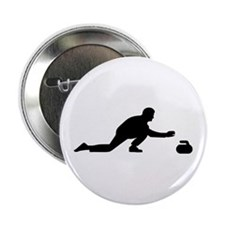 "Curling player 2.25"" Button"