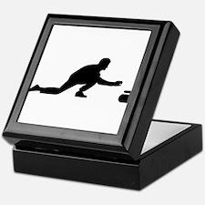 Curling player Keepsake Box