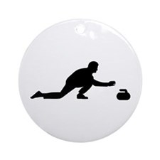 Curling player Ornament (Round)