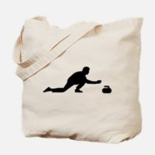 Curling player Tote Bag