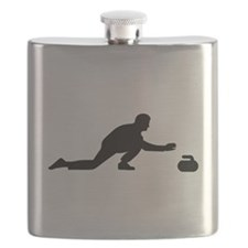 Curling player Flask
