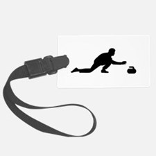 Curling player Luggage Tag