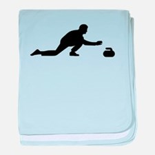 Curling player baby blanket